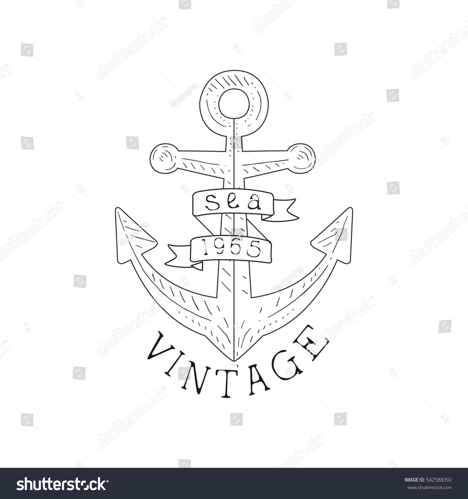 Ship anchor vintage sea nautical symbol stock vector 542588392 ship anchor vintage sea and nautical symbol hand drawn sketch label template part of marine buycottarizona