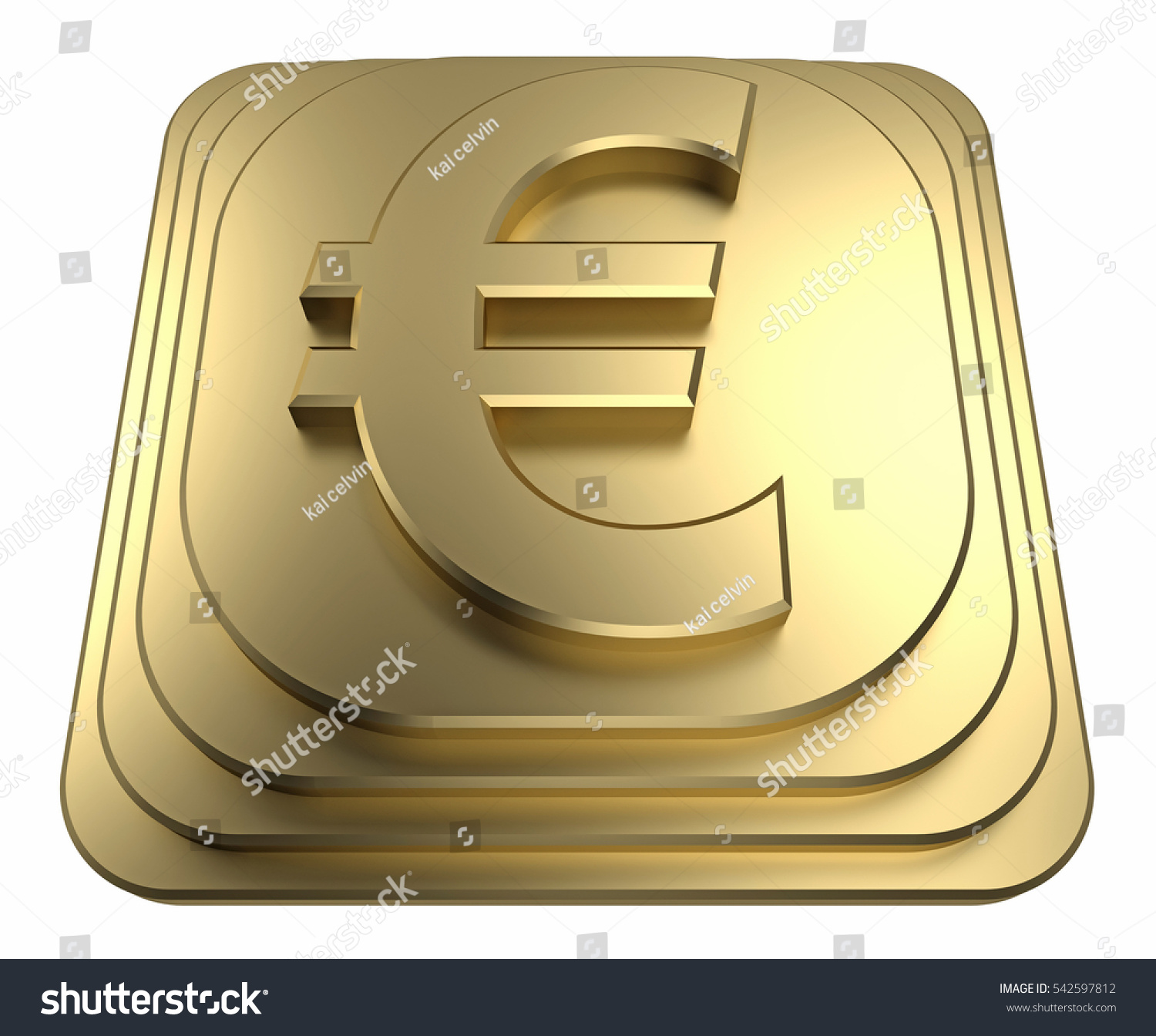 With golden key 3d rendering plan concept with golden key 3d rendering - Gold Euro Sign On A Pedestal 3d Rendering