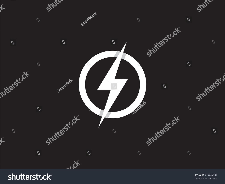 Lightning Logo Design Element Energy Thunder Stock Vector Royalty