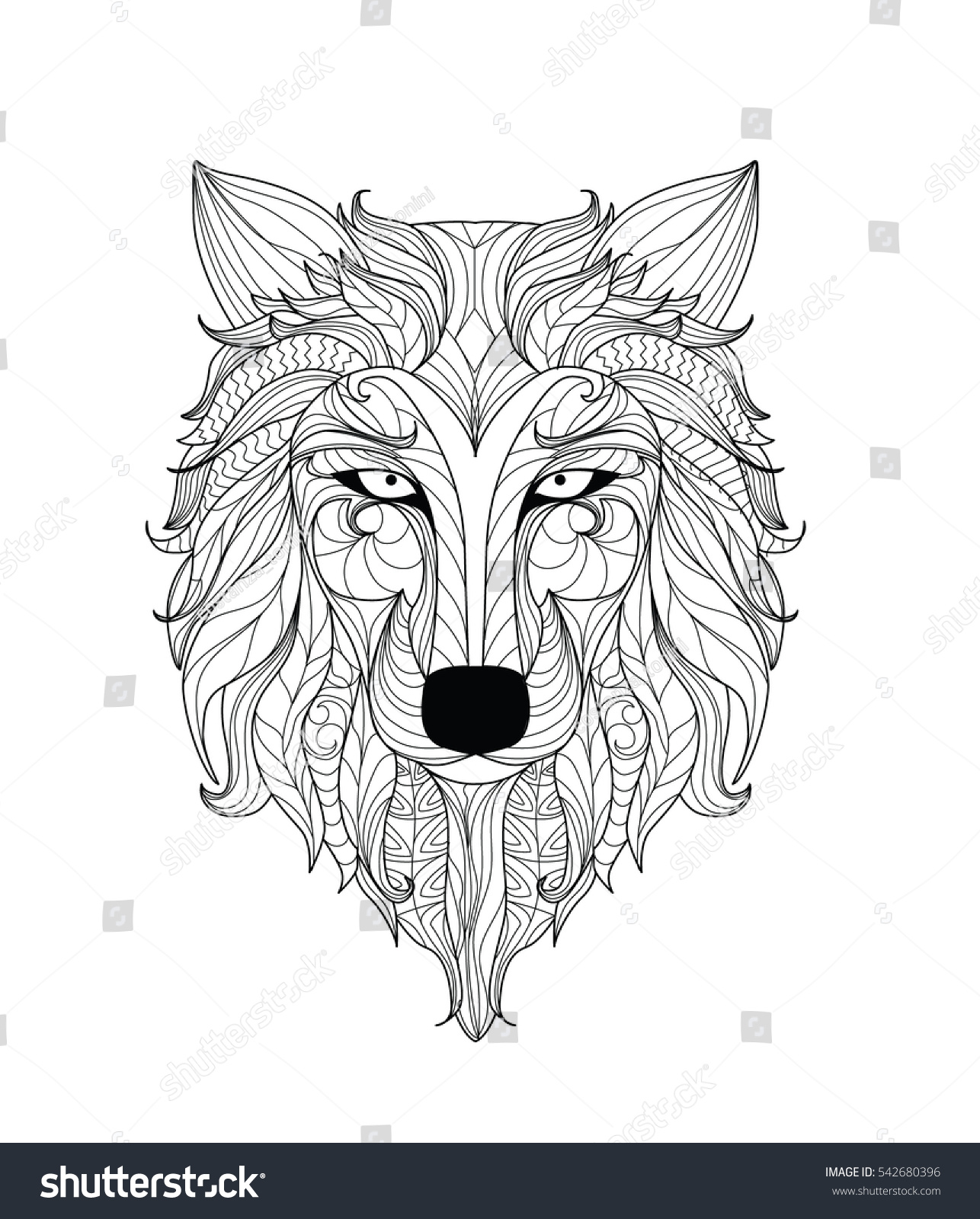 Wolf Line Art Mandalas Wiring Diagrams Double Switch Diagram Http Forumsoffroadcom Jeepshort Mandala Coloring Page Adults Zentangle Stock Vector Royalty Rh Shutterstock Com Lioness