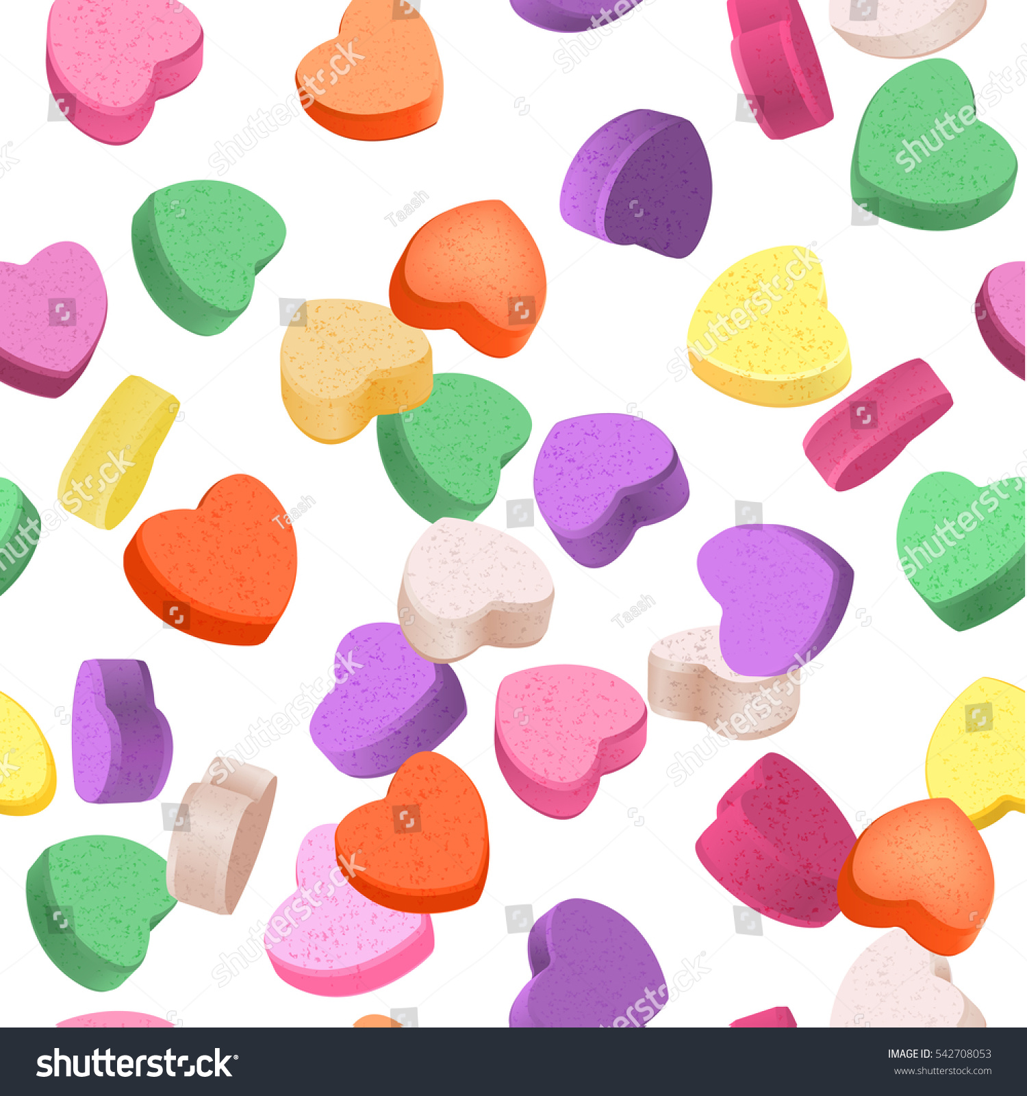 Seamless Pattern Valentines Day Colorful Conversation Stock Vector