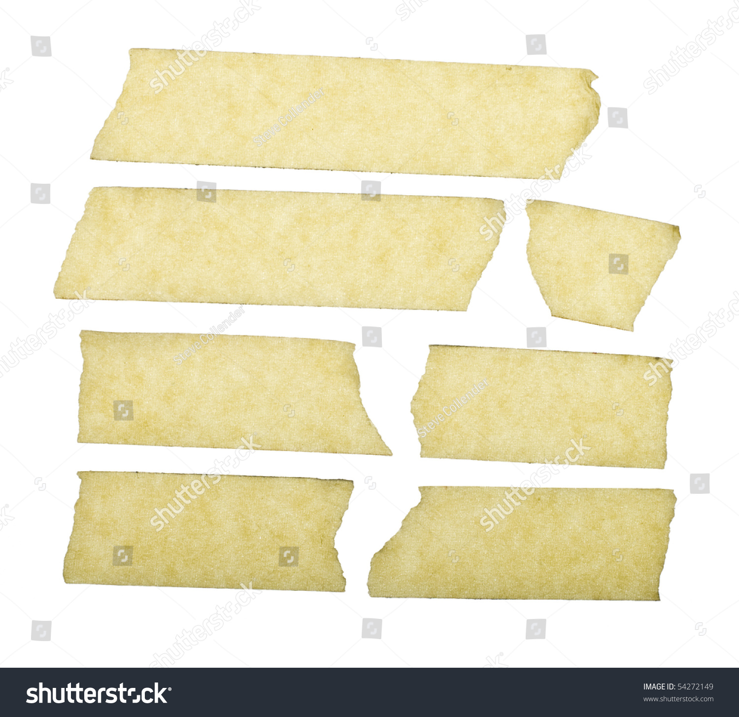 Masking Tape Close Isolated On White Stock Photo 54272149 ...