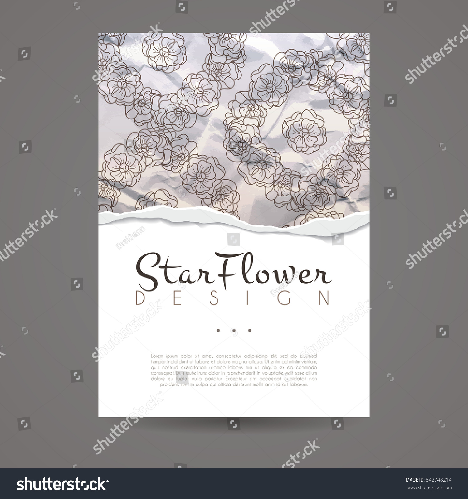Vector design template brochure flower style stock vector vector design template brochure flower style vintage frame or background business card with magicingreecefo Image collections