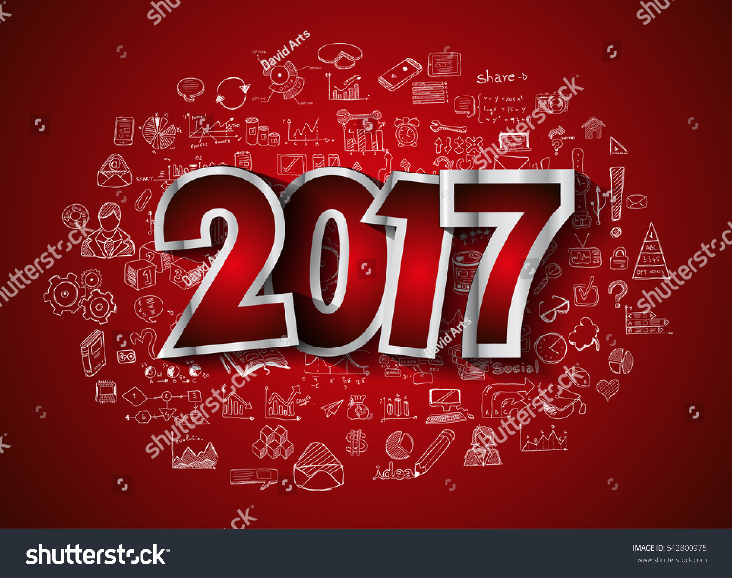 2017 new year infographic business plan stock vector 542800975 2017 new year infographic and business plan background for your flyers and hand drawn business and magicingreecefo Image collections