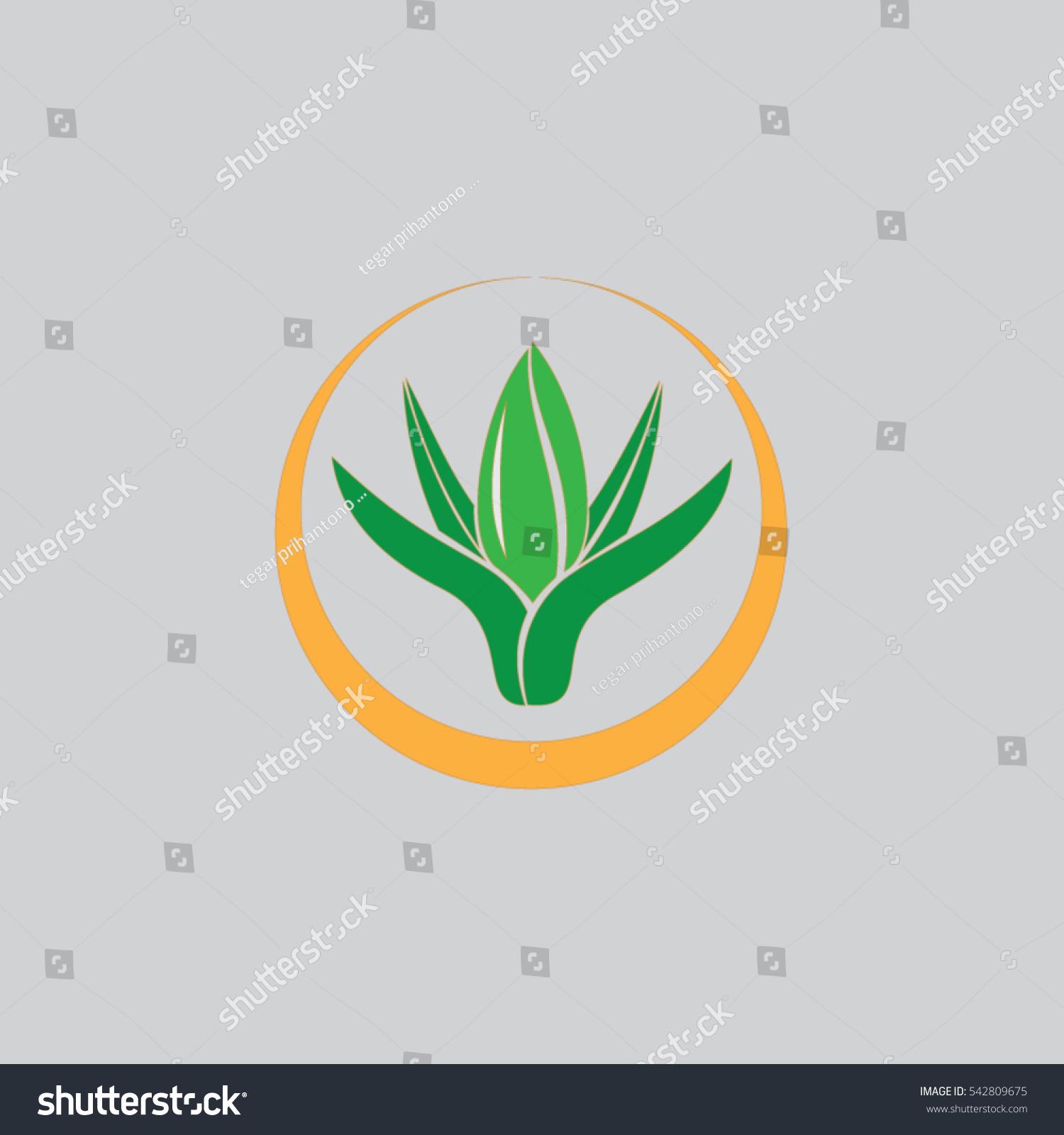 Leaf Ellipse Art Logo Hand Stock Vector (Royalty Free) 542809675 ...