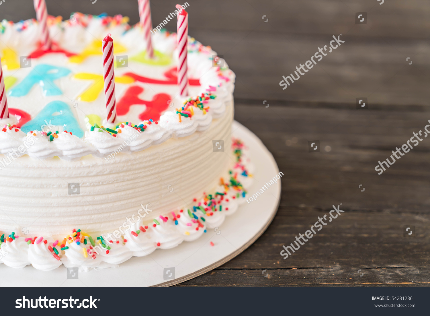 Happy Birthday Cake On Table Stock Photo Edit Now 542812861