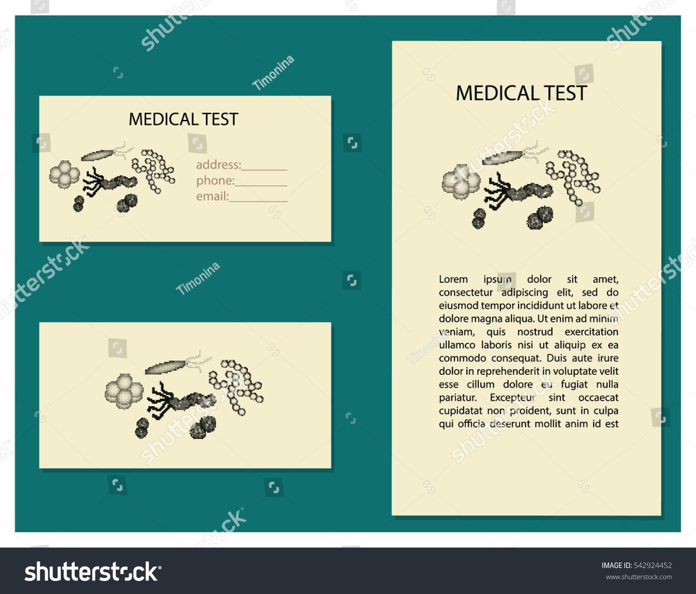 Set Business Card Flyer Medical Test Stock Vector 542924452 ...