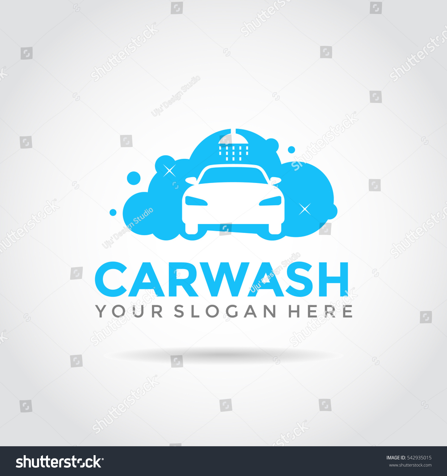 Car Wash Logo Template Design Foam Vectores En Stock 542935015 ...