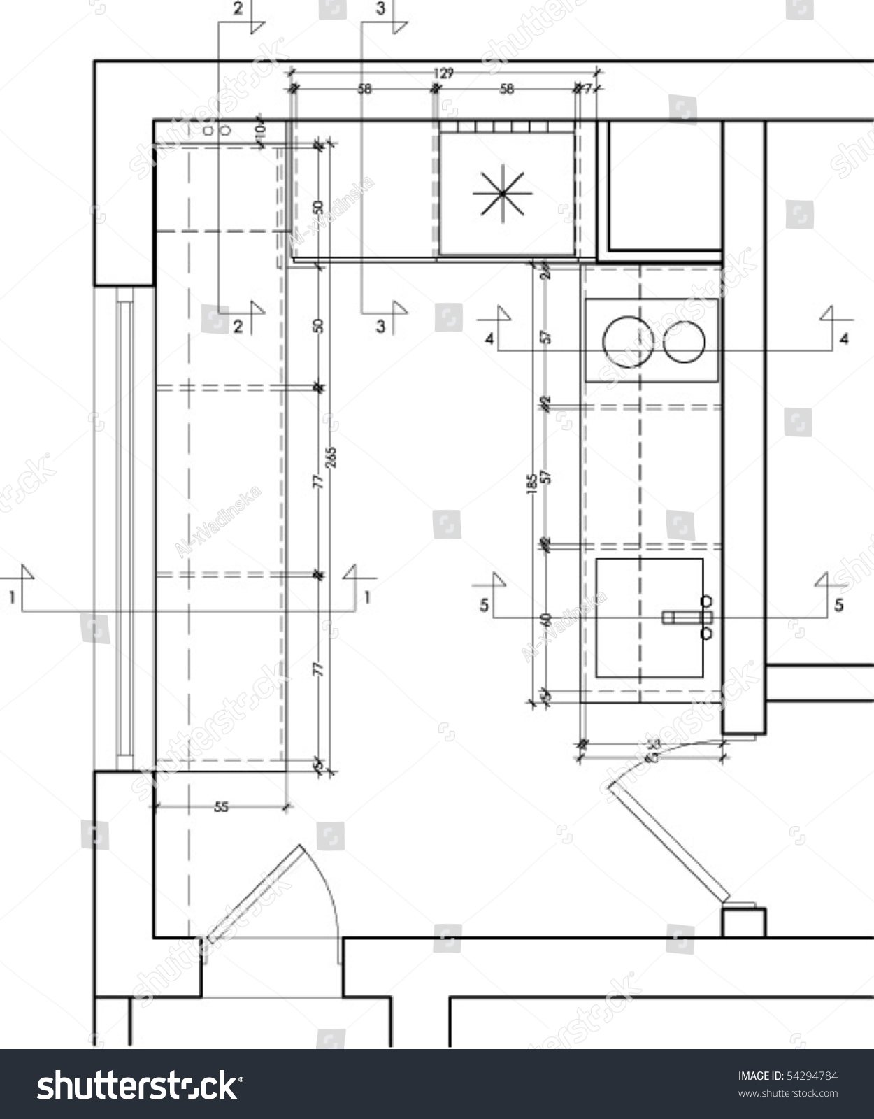 Kitchen drawings the best quality home design for Kitchen plan view