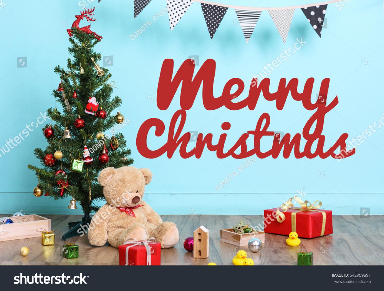 Christmas Tree Flag Christmas Decorations Toy Stock Photo 100