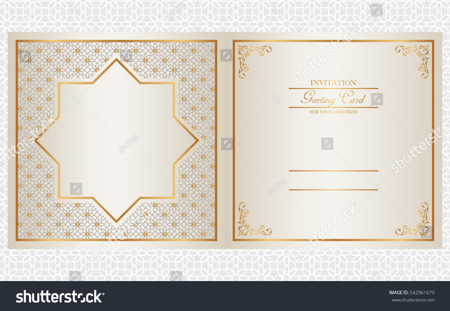 Invitation card design indian arabic muslim stock vector 542961679 invitation card design indian arabic and muslim theme stopboris Images