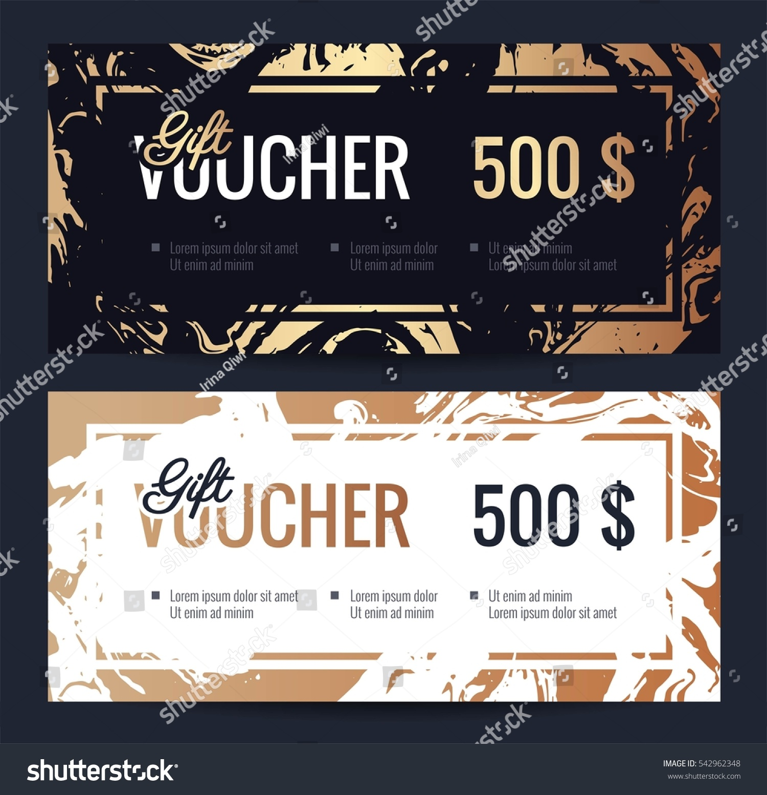 Gift voucher coupon discount elegant gift gift voucher coupon discount elegant gift certificate template with handmade gold marble texture shopping yelopaper Choice Image