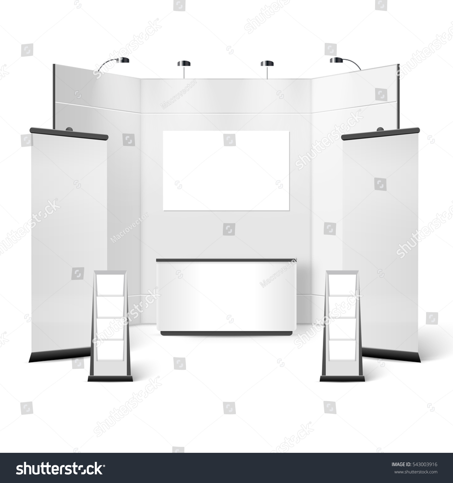 Exhibition Stand Drawing : Royalty free stock illustration of exhibition stand blank design