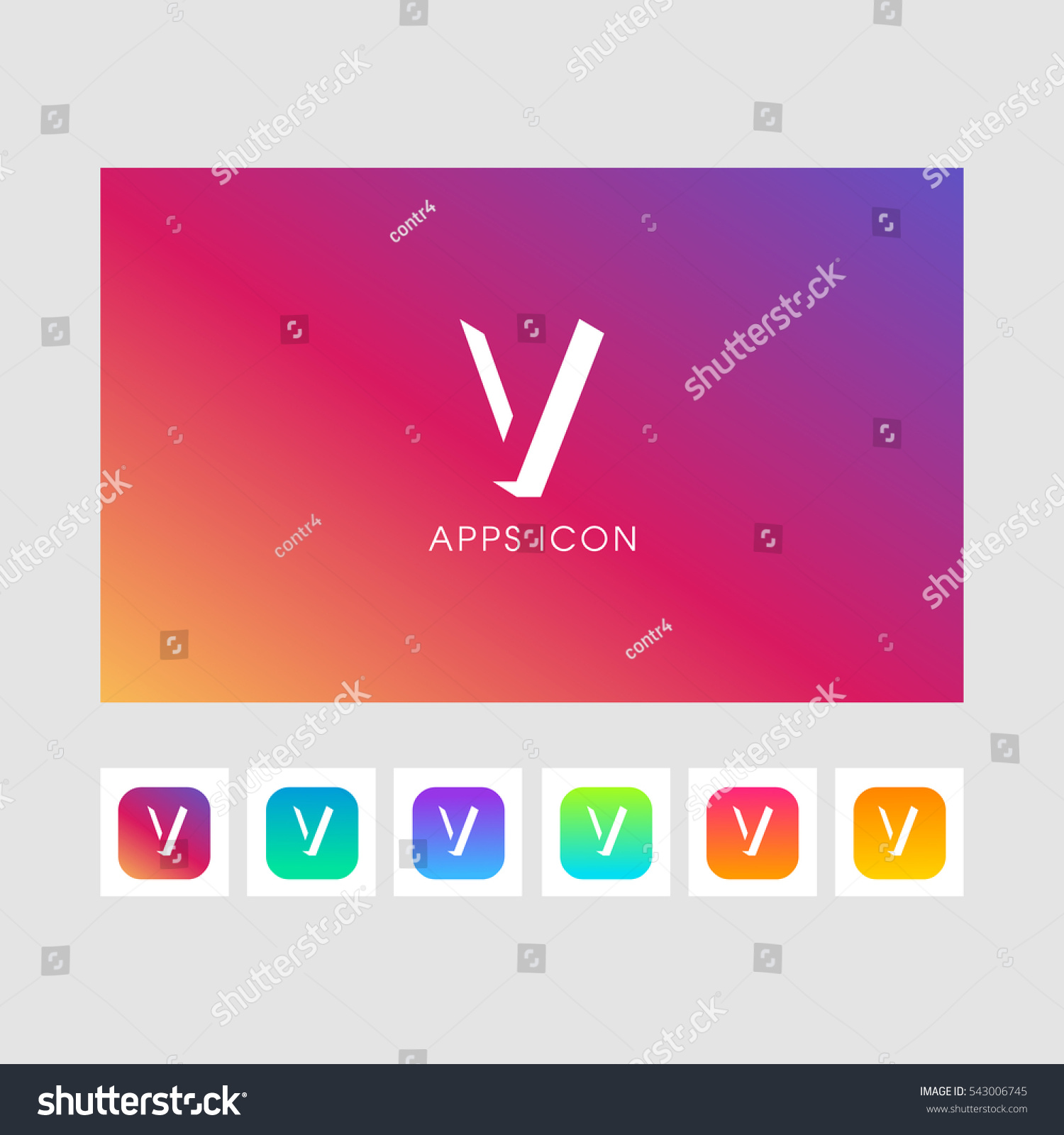 V Shadow Letter Logo Gold Color Stock Vector (Royalty Free ...