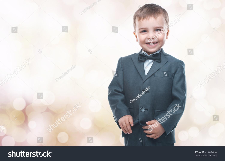 Little Boy Nice Suit Glasses Back Stock Photo 543032668 - Shutterstock