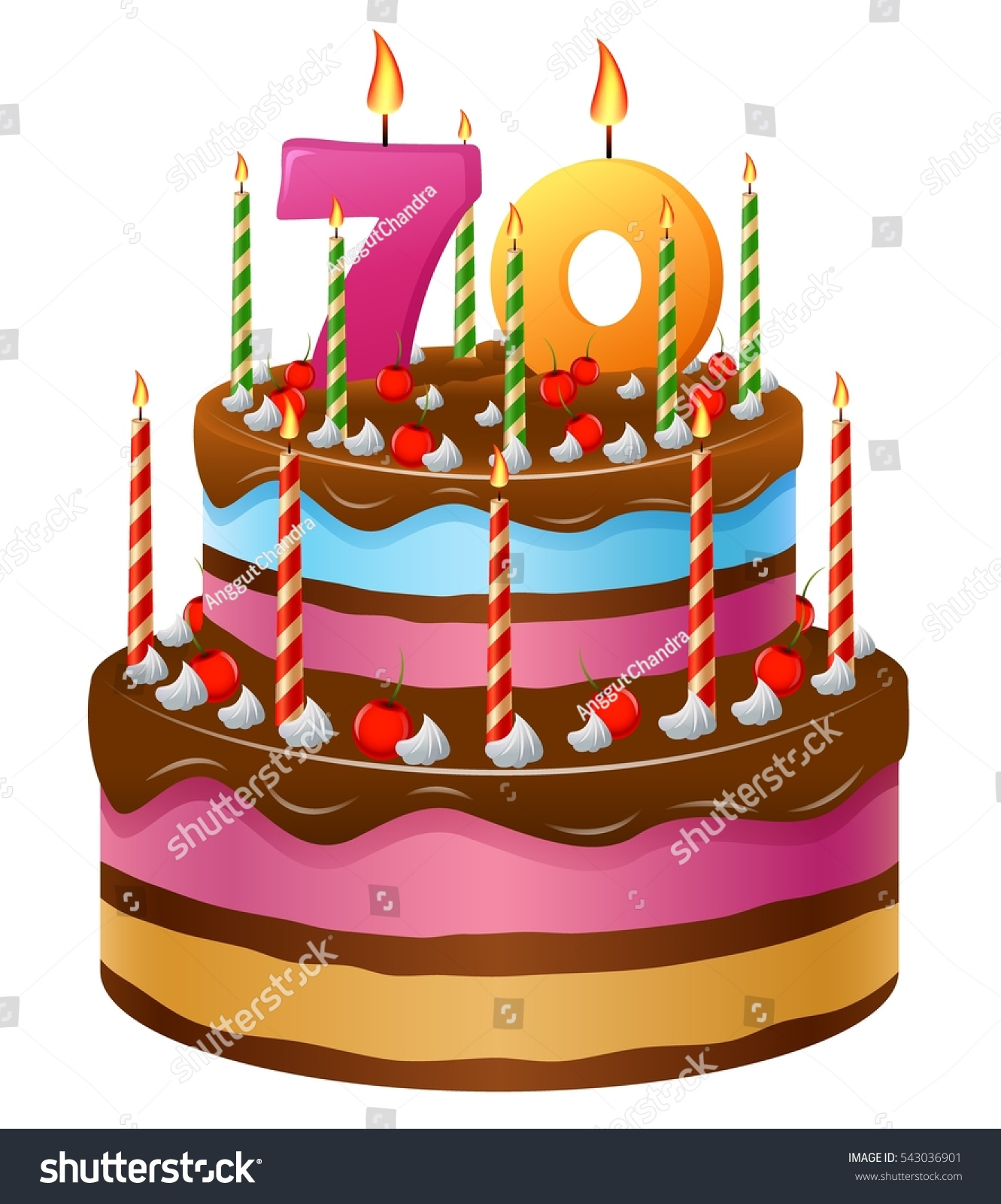 Happy Birthday Cake 70
