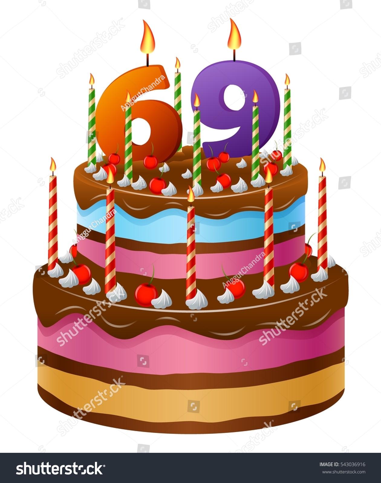 Happy Birthday Cake 69 Stock Illustration 543036916 Shutterstock