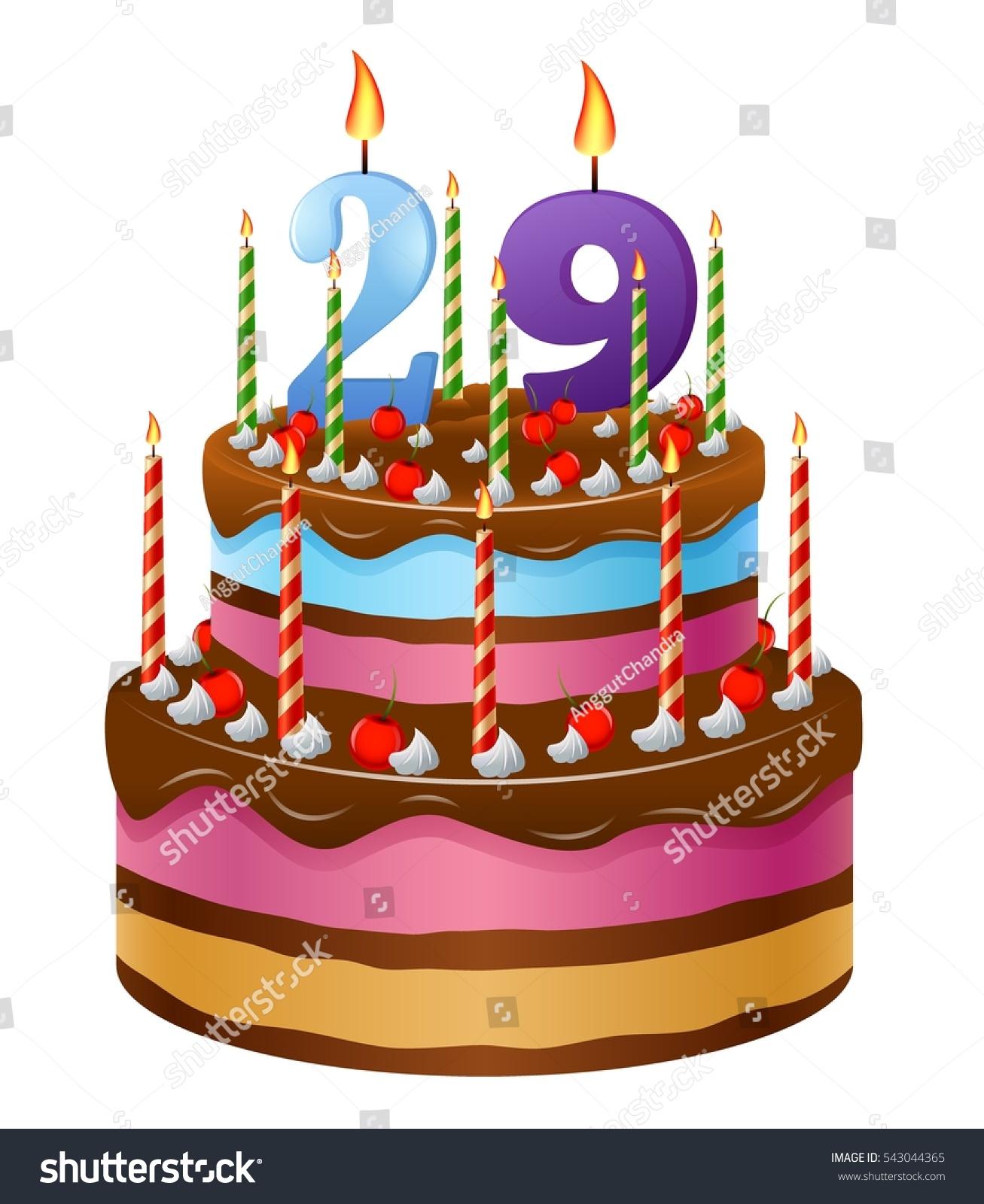 Happy Birthday Cake 29 Stock Illustration Royalty Free Stock
