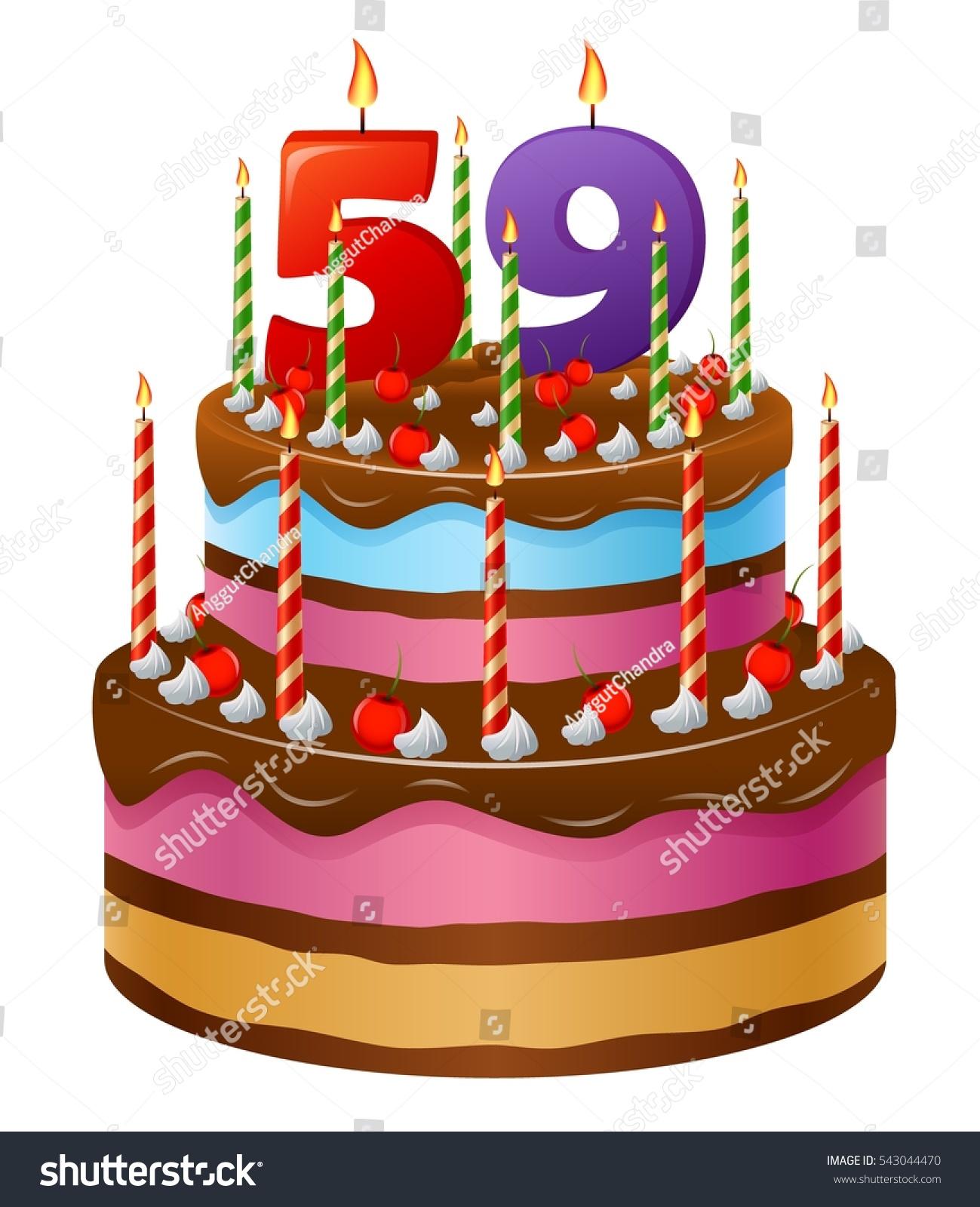 Happy Birthday Cake 59 Stock Illustration 543044470 Shutterstock