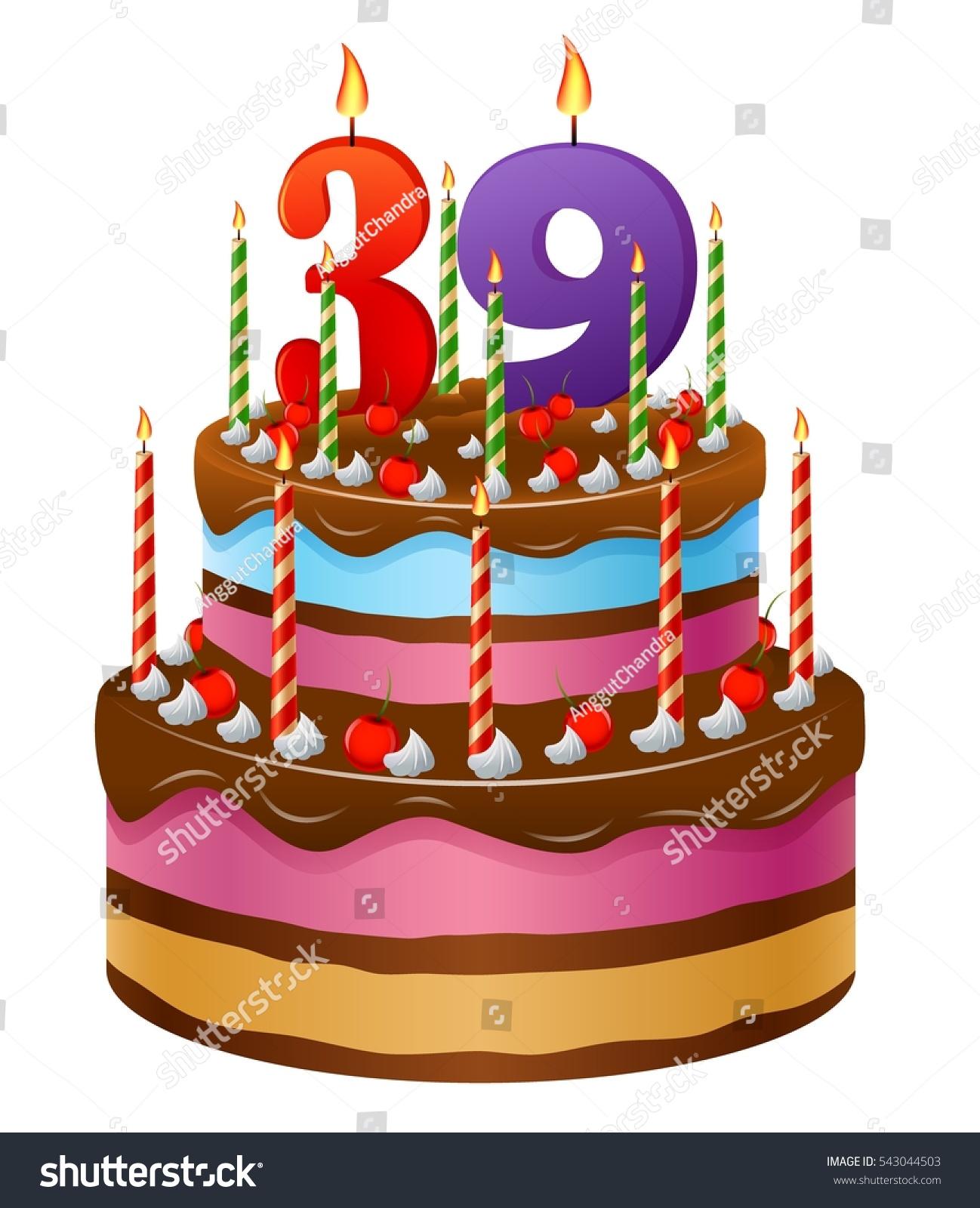 Happy Birthday Cake 39 Stock Illustration 543044503 Shutterstock