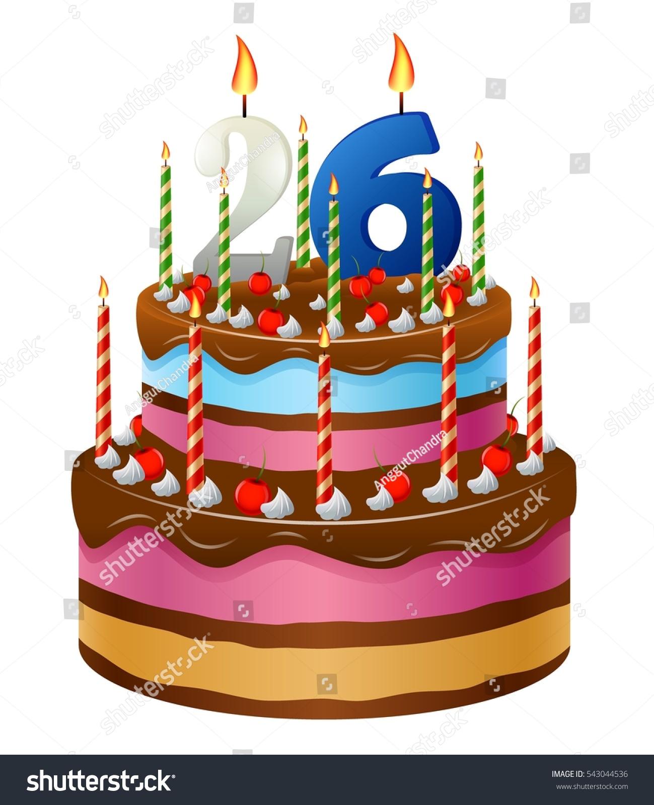 Happy Birthday Cake 26 Stock Illustration 543044536 Shutterstock