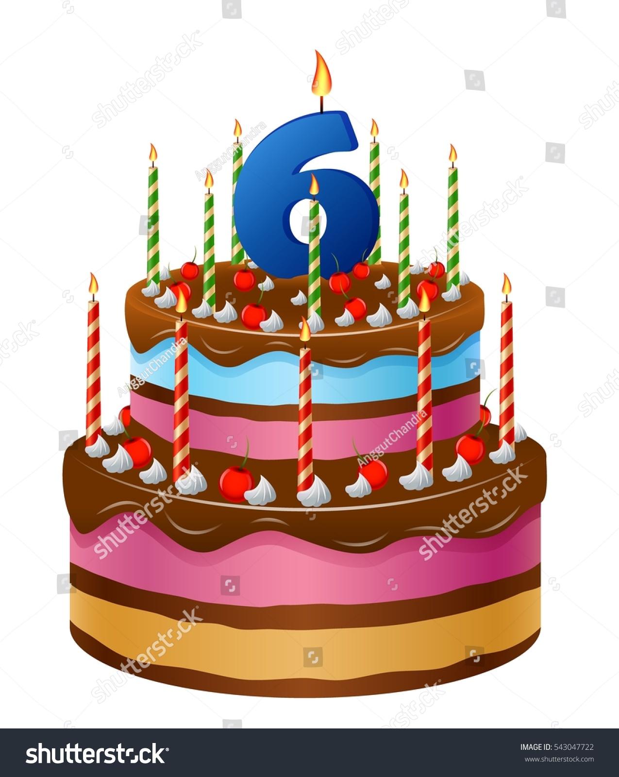 Royalty Free Stock Illustration Of Happy Birthday Cake 6 Stock