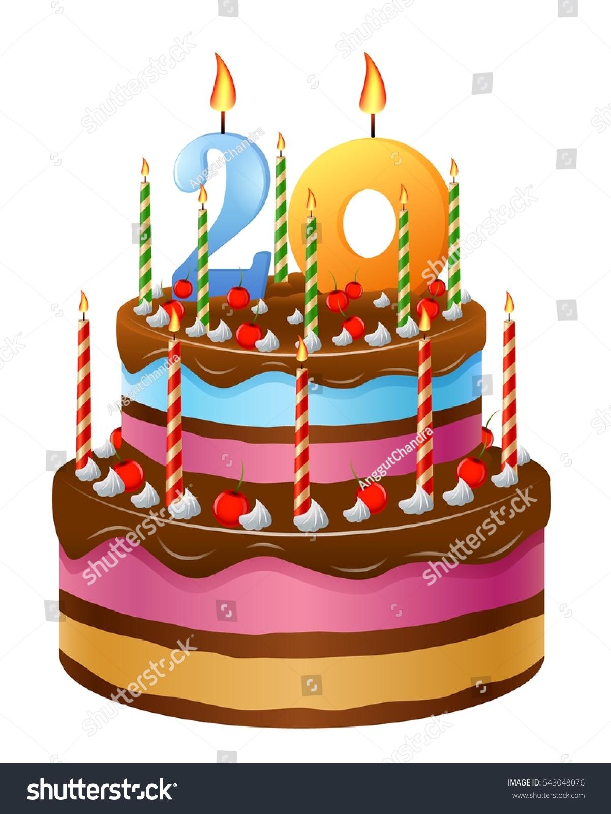 Happy Birthday Cake 20 Stock Illustration 543048076 Shutterstock