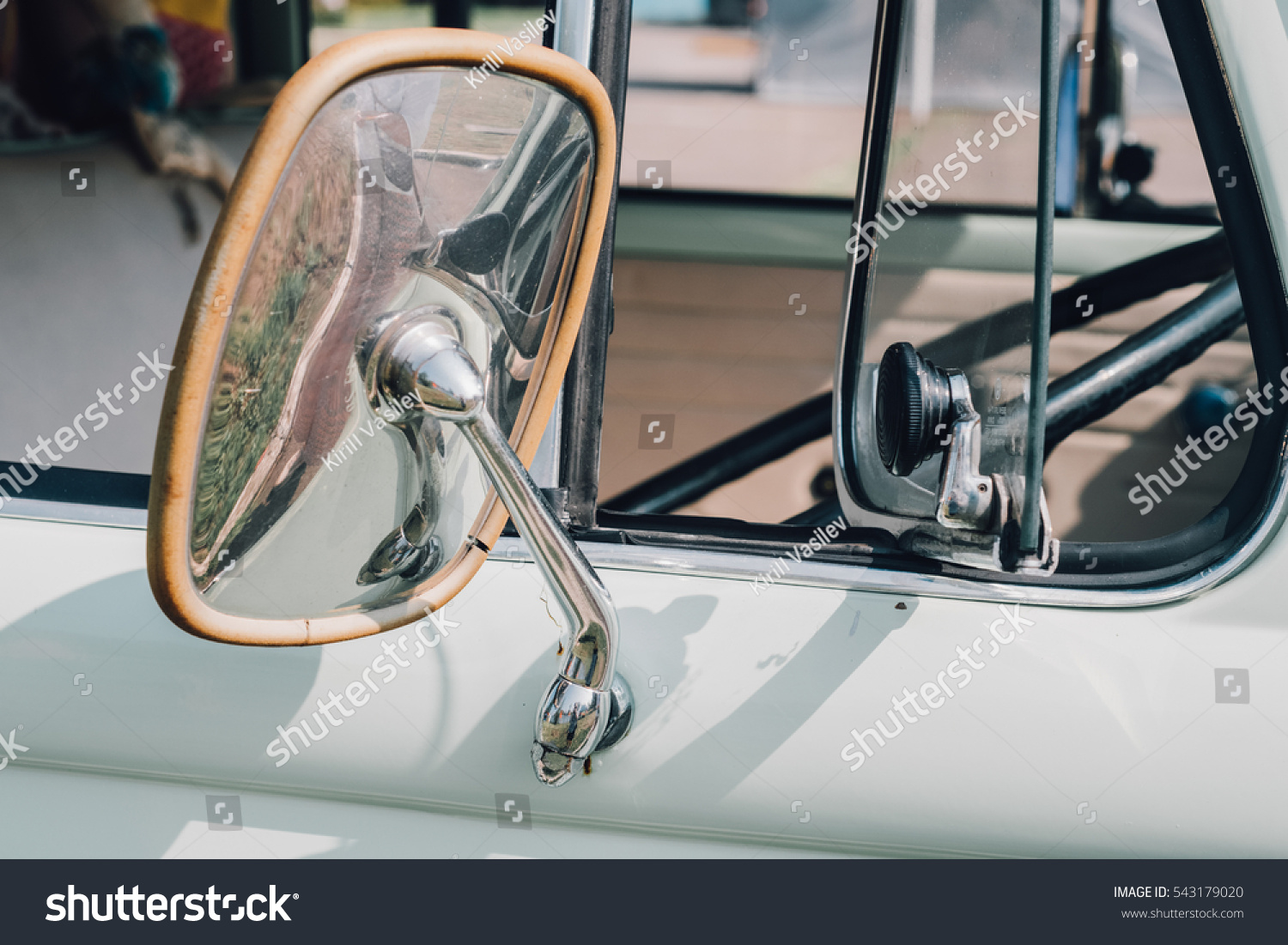 Vintage Auto Body Chrome Parts Car Stock Photo 543179020 ...