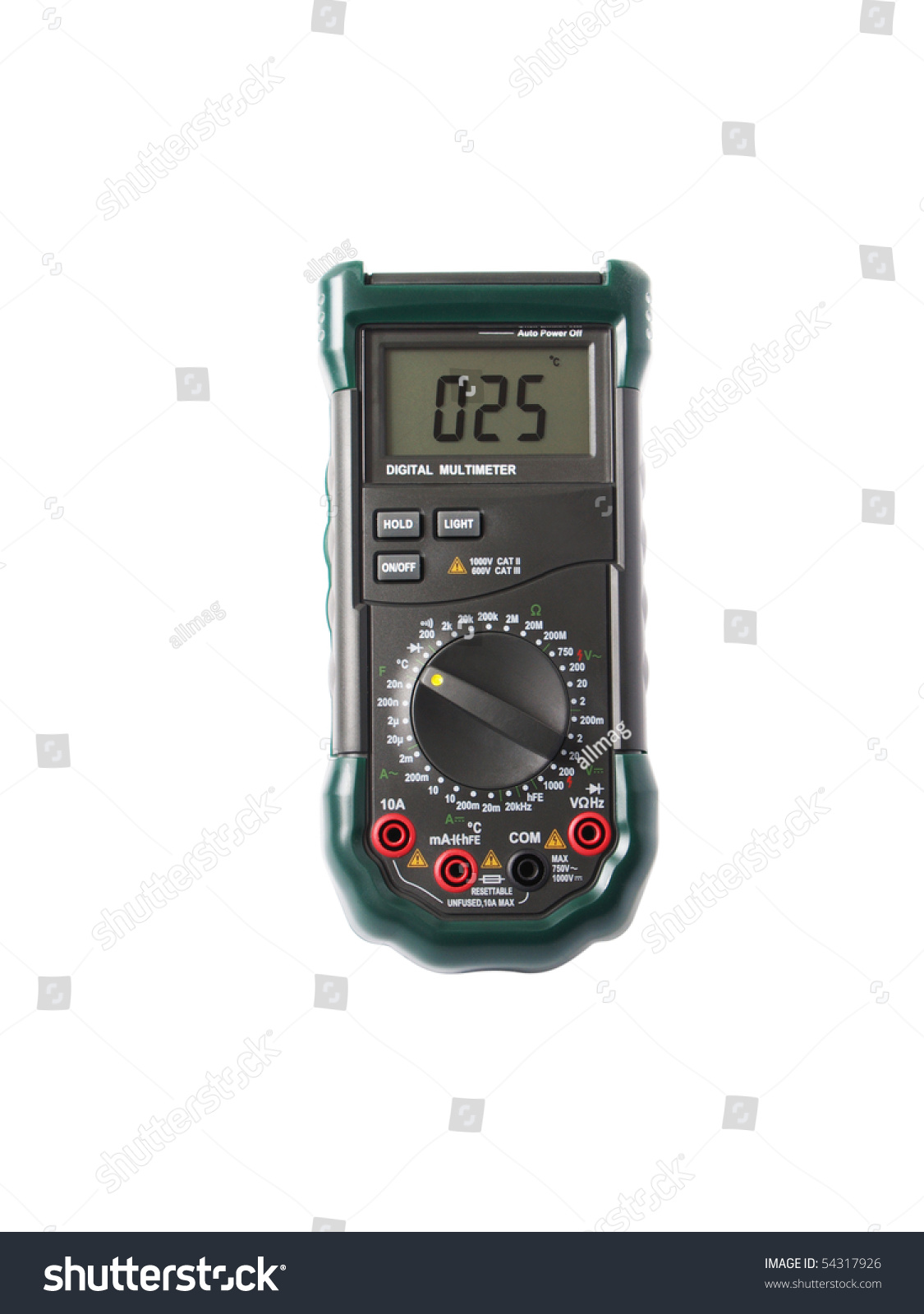 Electrical Measuring Devices : The multipurpose digital electric measuring device close