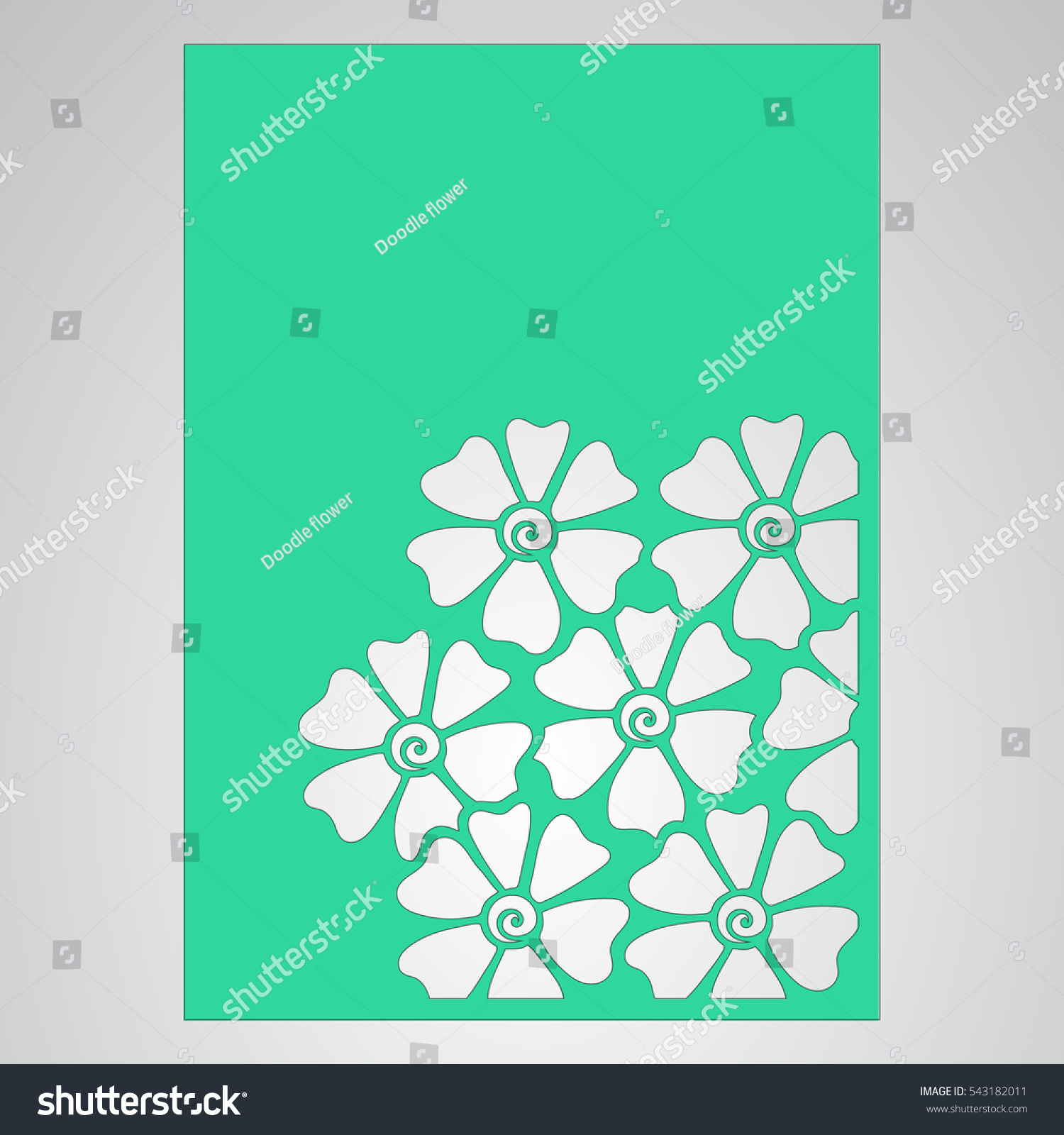 cutout silhouette botanical pattern filigree leaves stock vector