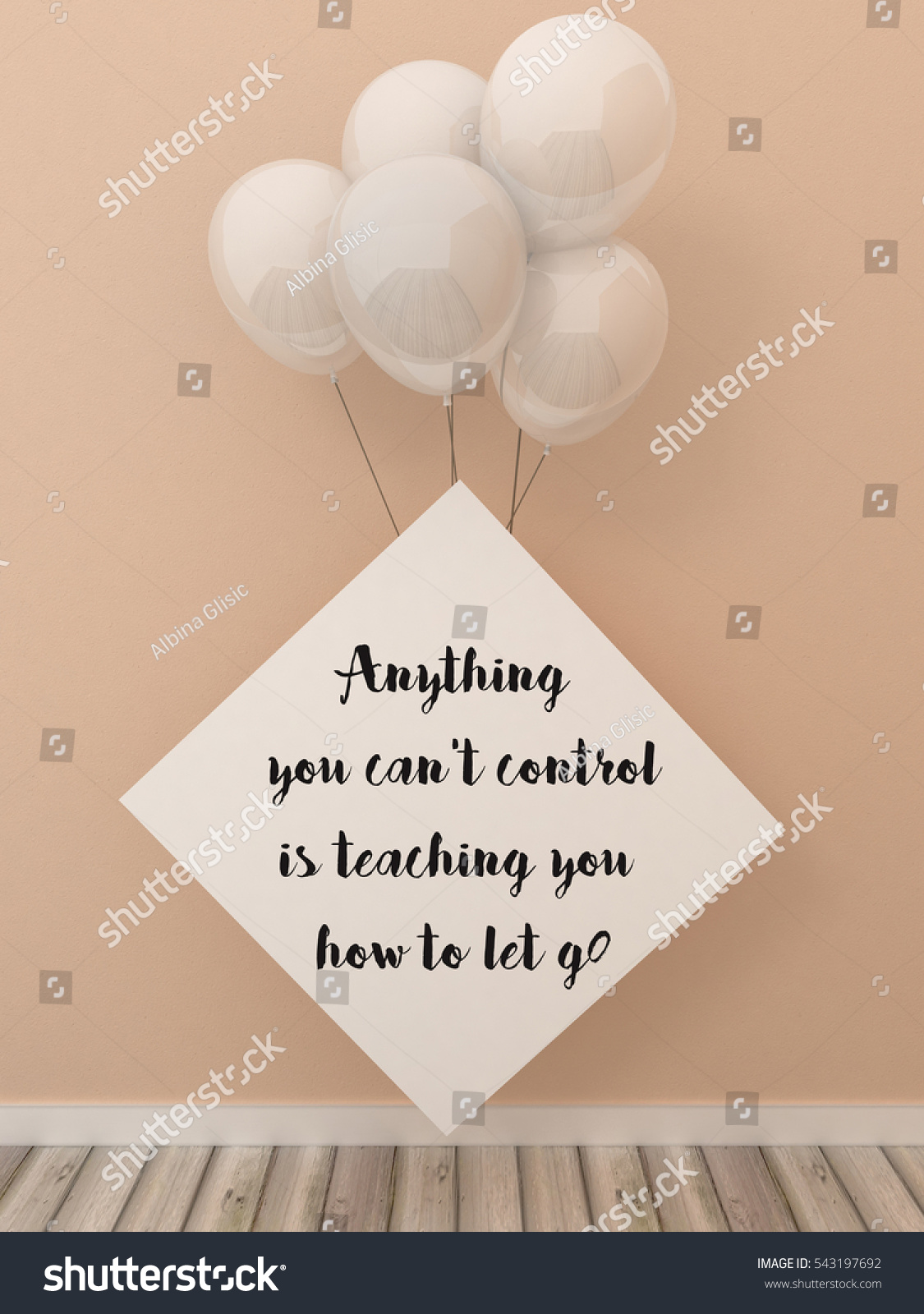 Inspiration Motivation Quote Anything You Cant Stock Illustration