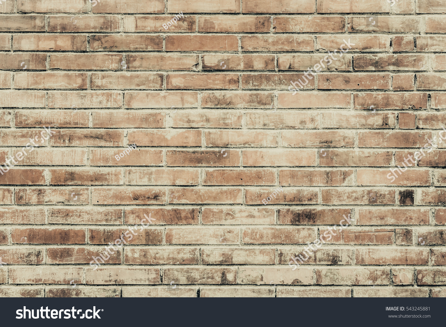 Old Brick Wall Cracks Scratches Horizontal Stock Photo 543245881 Shutterstock
