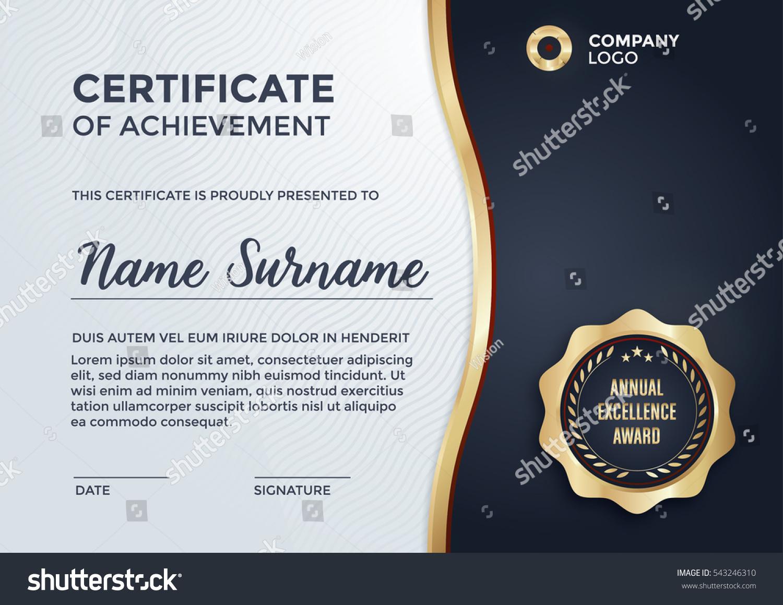 Certificate design diploma template vector format certificate design diploma template vector format 543246310 shutterstock yelopaper Gallery