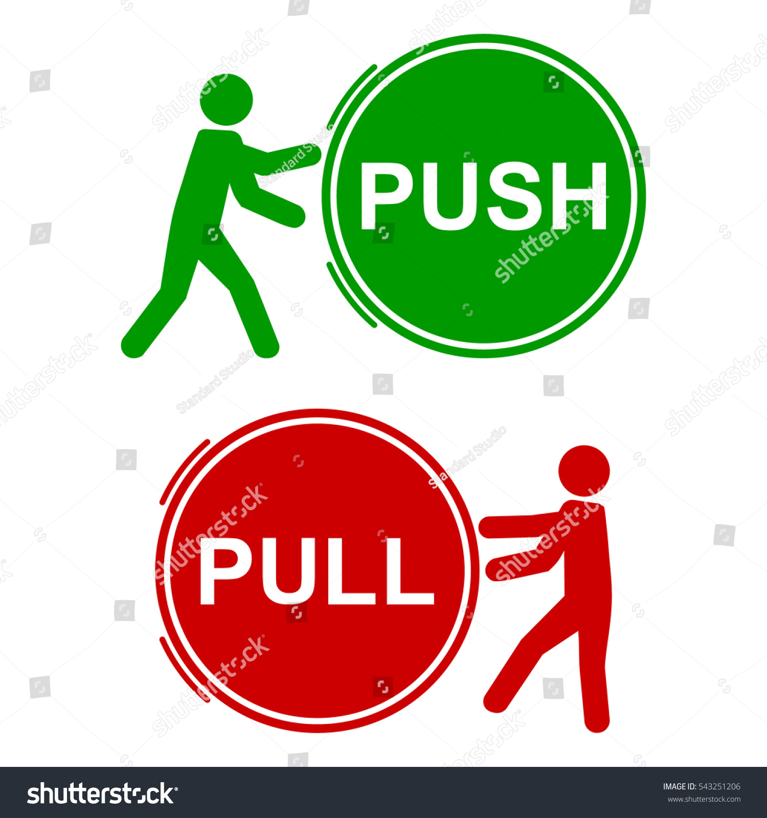 Push Pull Signs Vector Illustration 28 Images Clipart