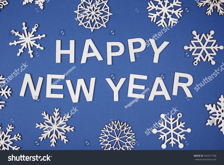 Happy New Year Celebration Greeting Happy Stock Photo