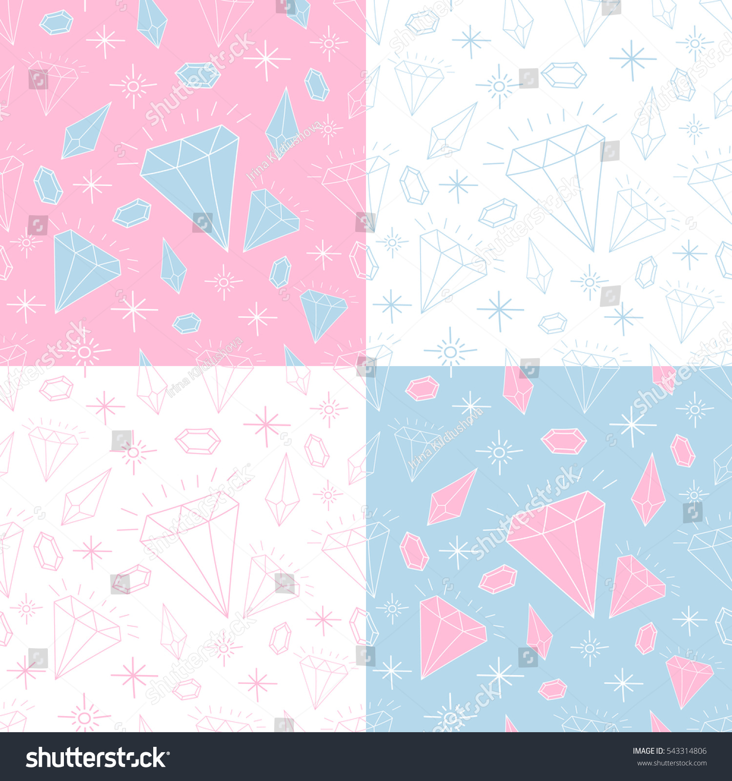 Set jewelry girl pattern seamless vector stock vector 543314806 set of jewelry girl pattern seamless vector doodle princess diamond print queen background for stopboris Image collections