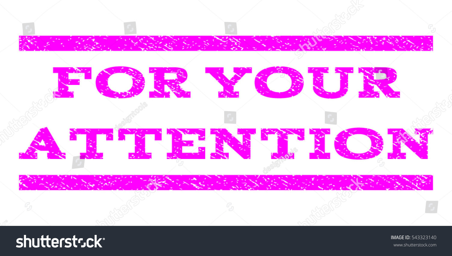 your attention watermark stamp text tag stock vector royalty free