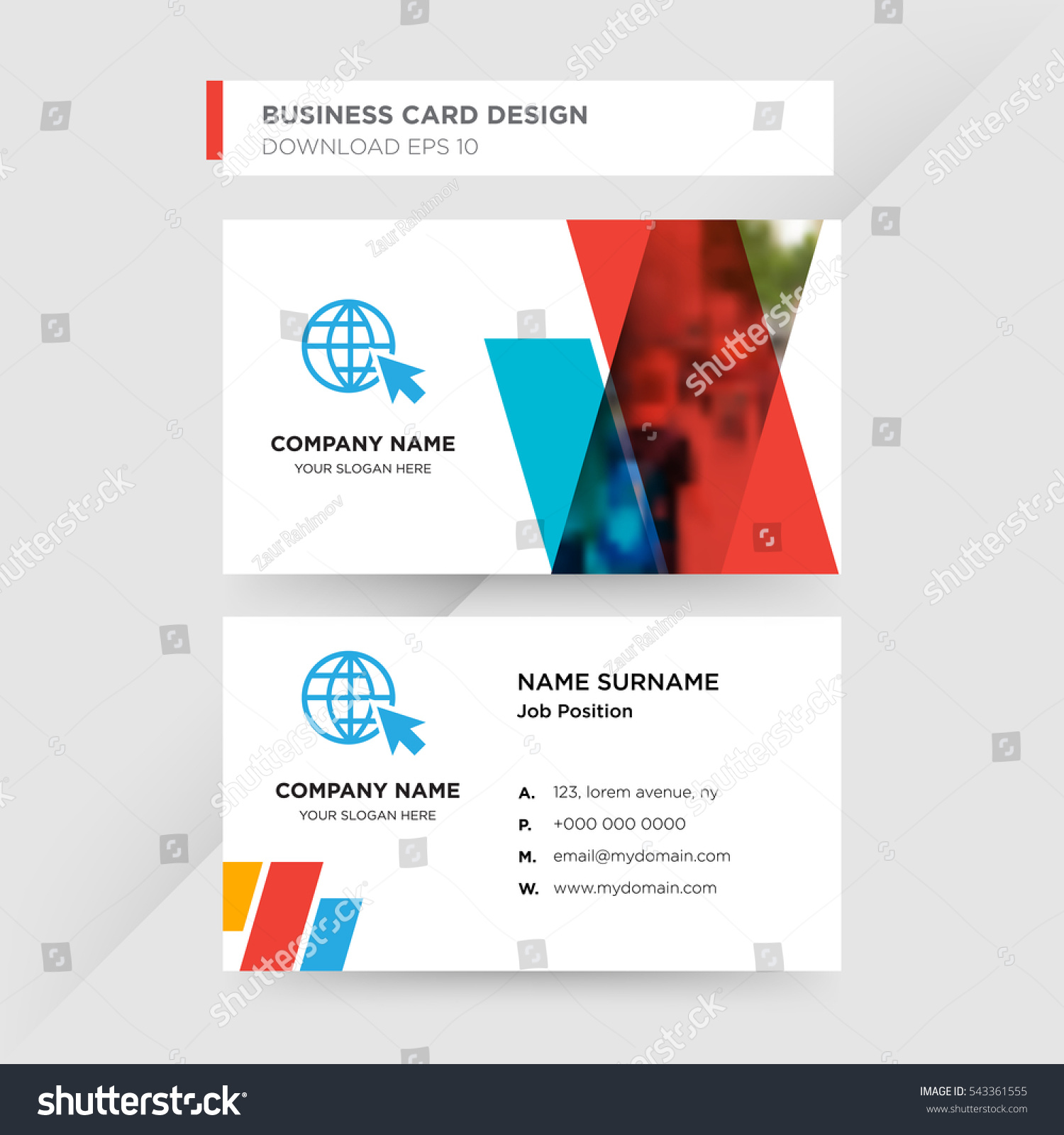 Template Business Card Travel Agent Services Stock Vector ...