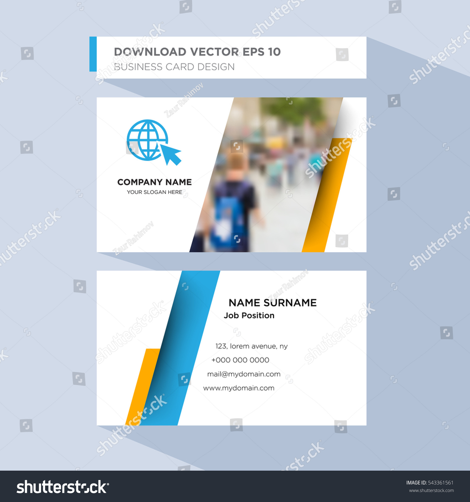 Template Personal Card Travel Agent Service Stock Vector 543361561 ...