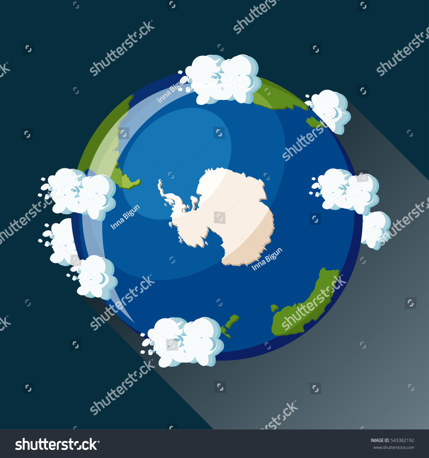 Antarctica map on planet earth view vectores en stock 543382192 antarctica map on planet earth view from space antarctica globe icon planet earth gumiabroncs Choice Image
