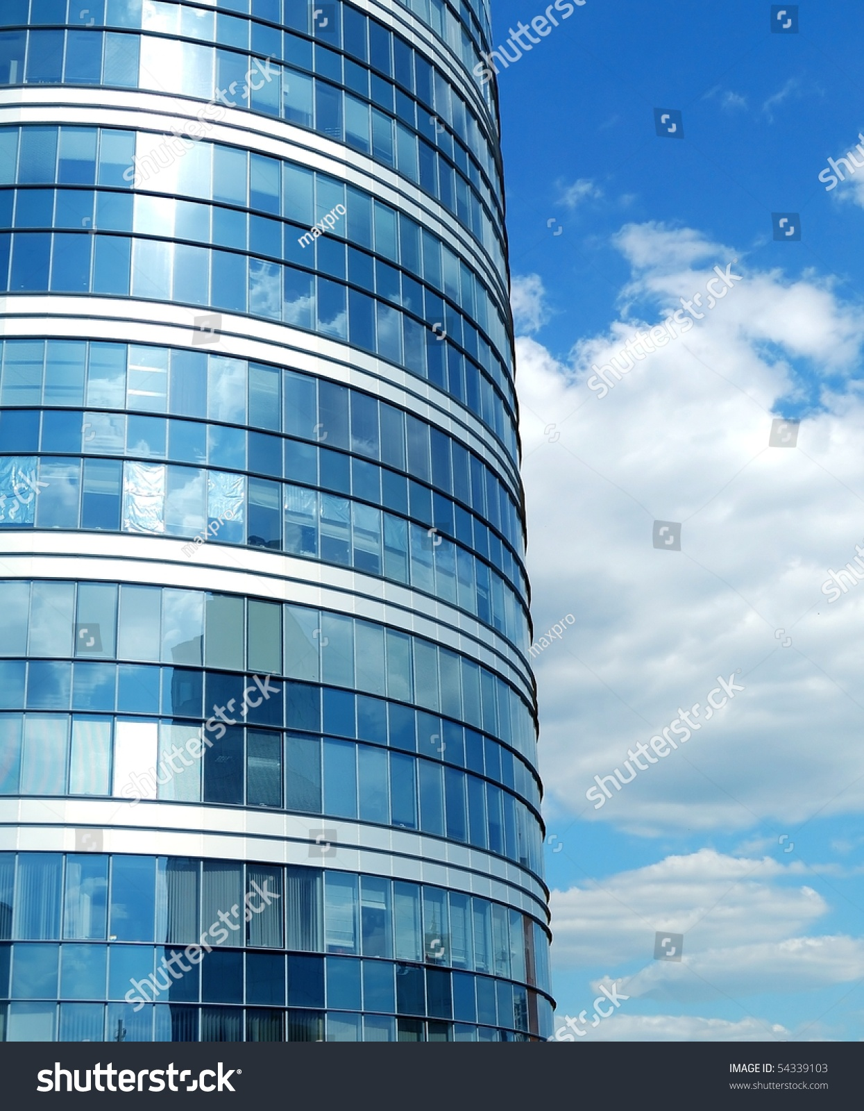 Modern Office Building Made Glass Steel Stock Photo 54339103 ...