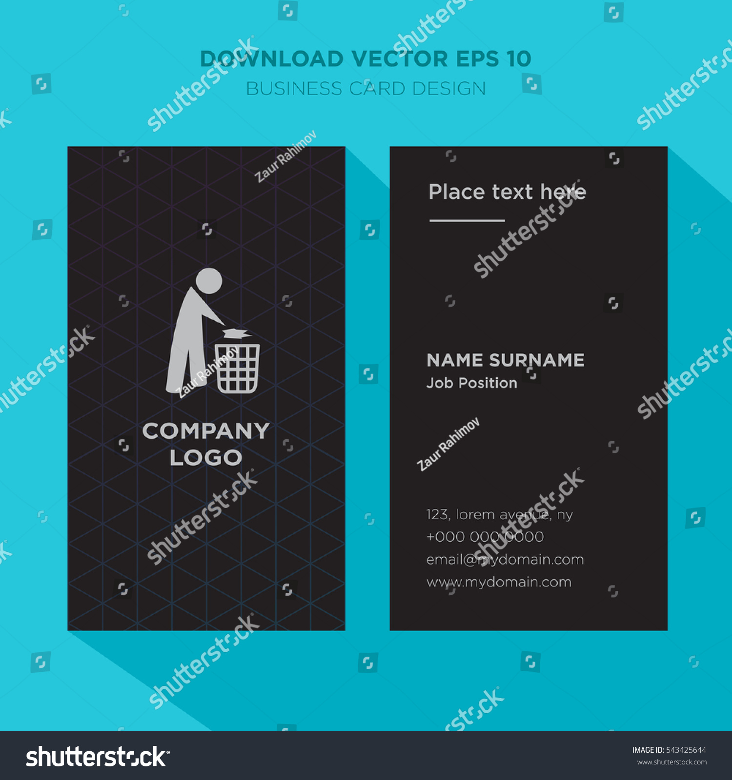 Template Elegant Business Card Recycle Services Stock Vector