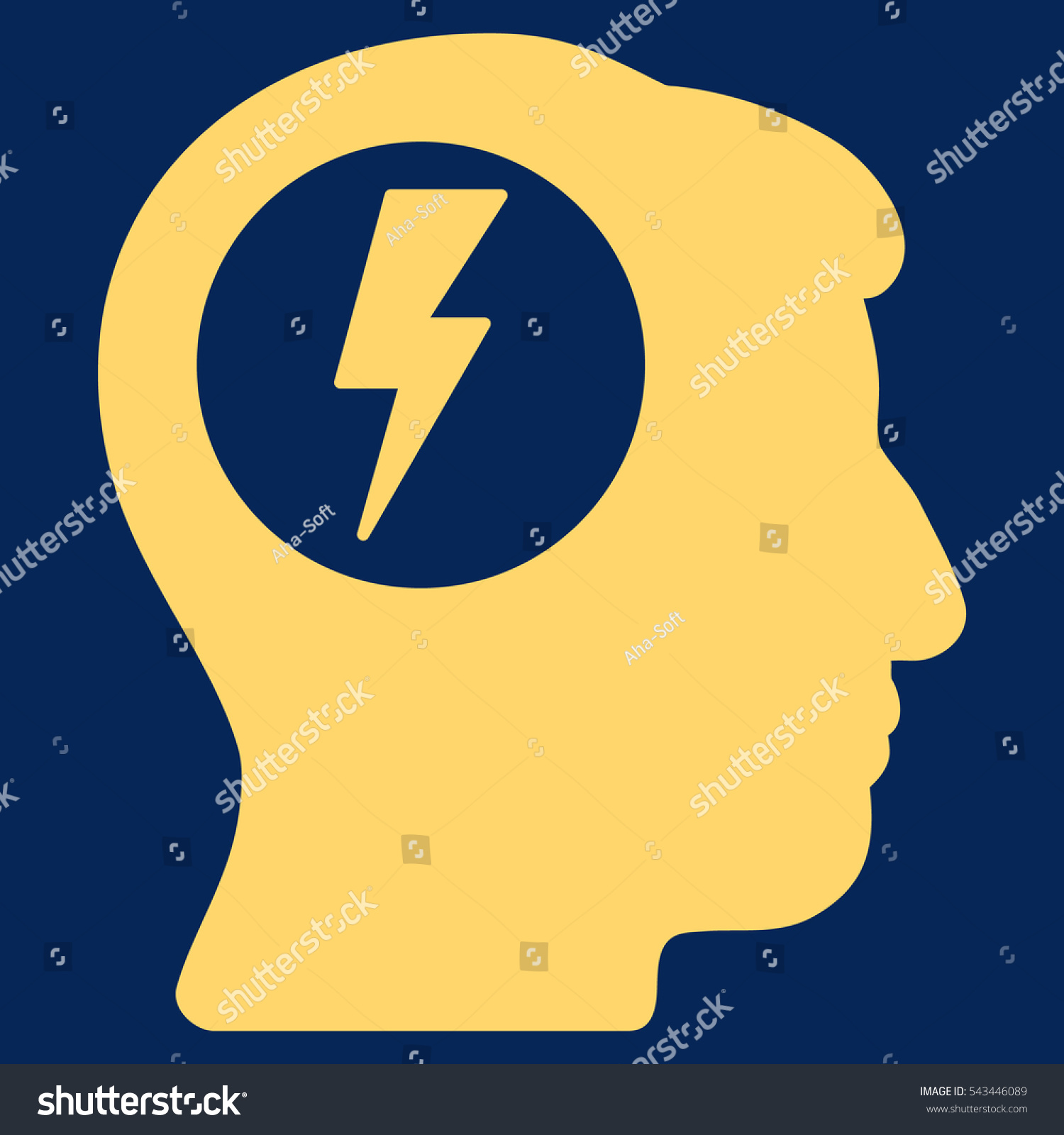 Brain electric shock glyph pictograph style stock illustration brain electric shock glyph pictograph style is flat graphic symbol yellow color blue biocorpaavc Image collections