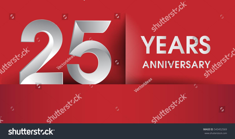 25 Years Anniversary Celebration Logo Flat Stock Vector (Royalty ...