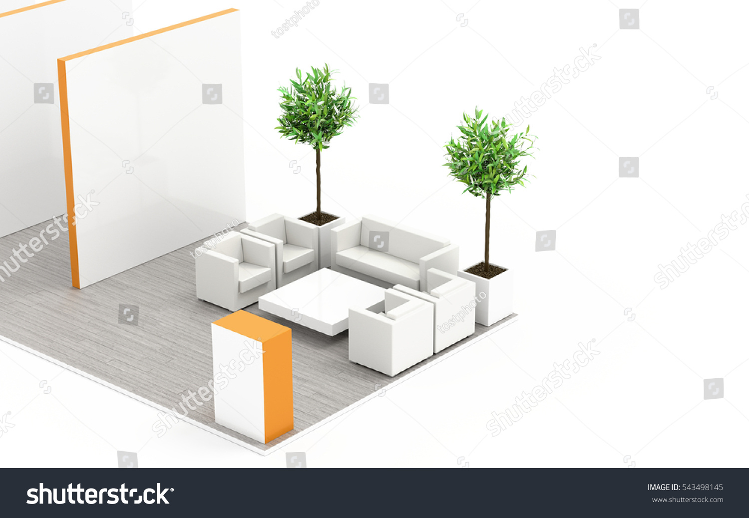 D Exhibition Booth Model : Exhibition stand on white stock illustration illustration of