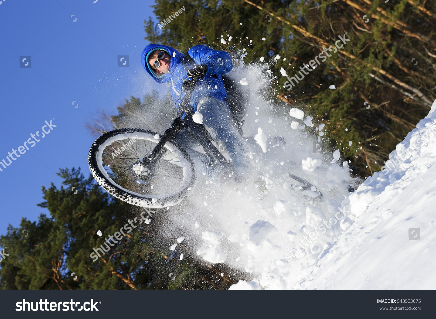 mountainbike snow winter extreme-#19