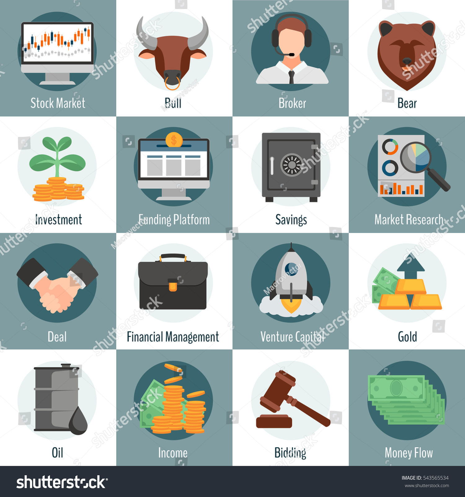 Ticker symbol for oil gallery symbol and sign ideas investment trading flat icons set web stock illustration 543565534 investment and trading flat icons set for buycottarizona
