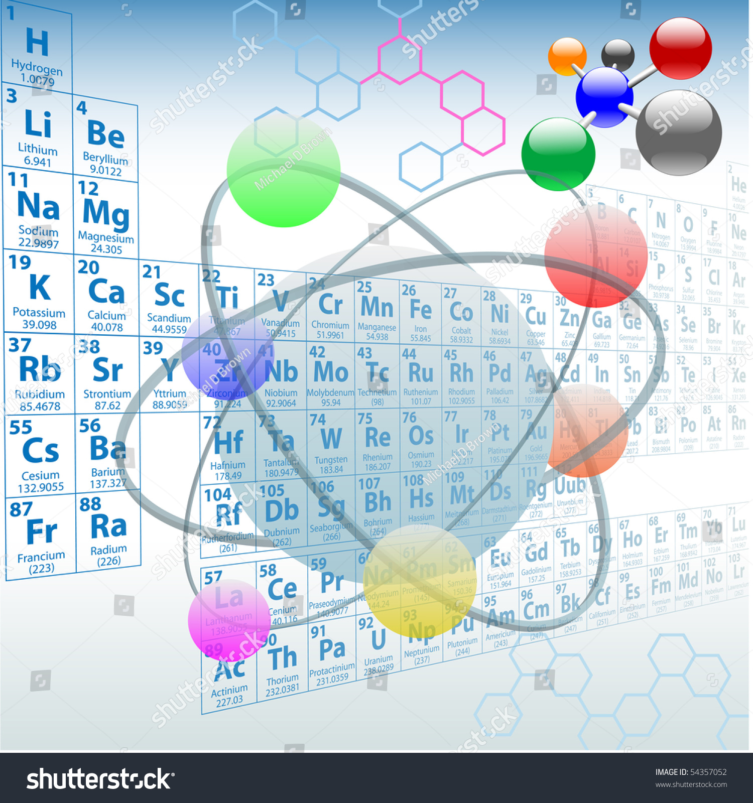 Atomic elements periodic table atoms molecules stock vector atomic elements periodic table atoms molecules chemistry design gamestrikefo Image collections