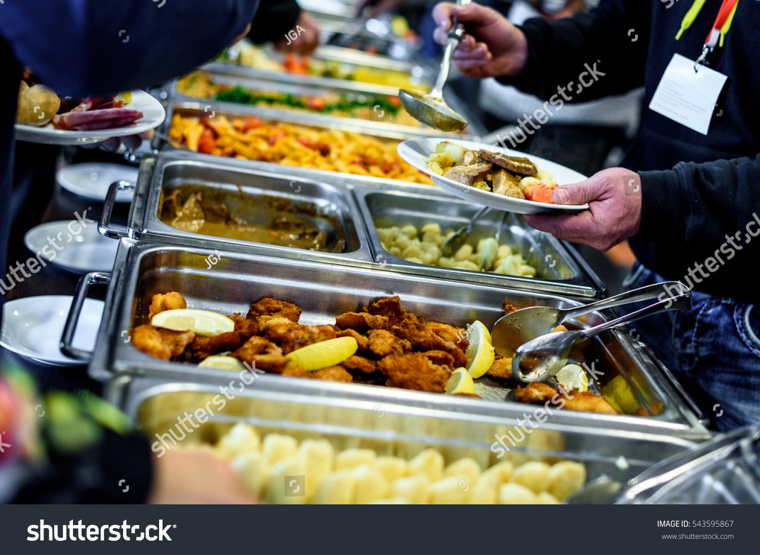 cuisine culinary buffet dinner catering dining stock photo 543595867 shutterstock. Black Bedroom Furniture Sets. Home Design Ideas