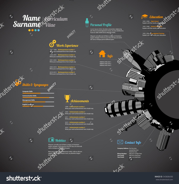 Creative Urban Curriculum Vitae Resume Template Vector de ...